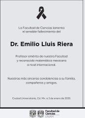 Fallecimiento de Emilio Lluis